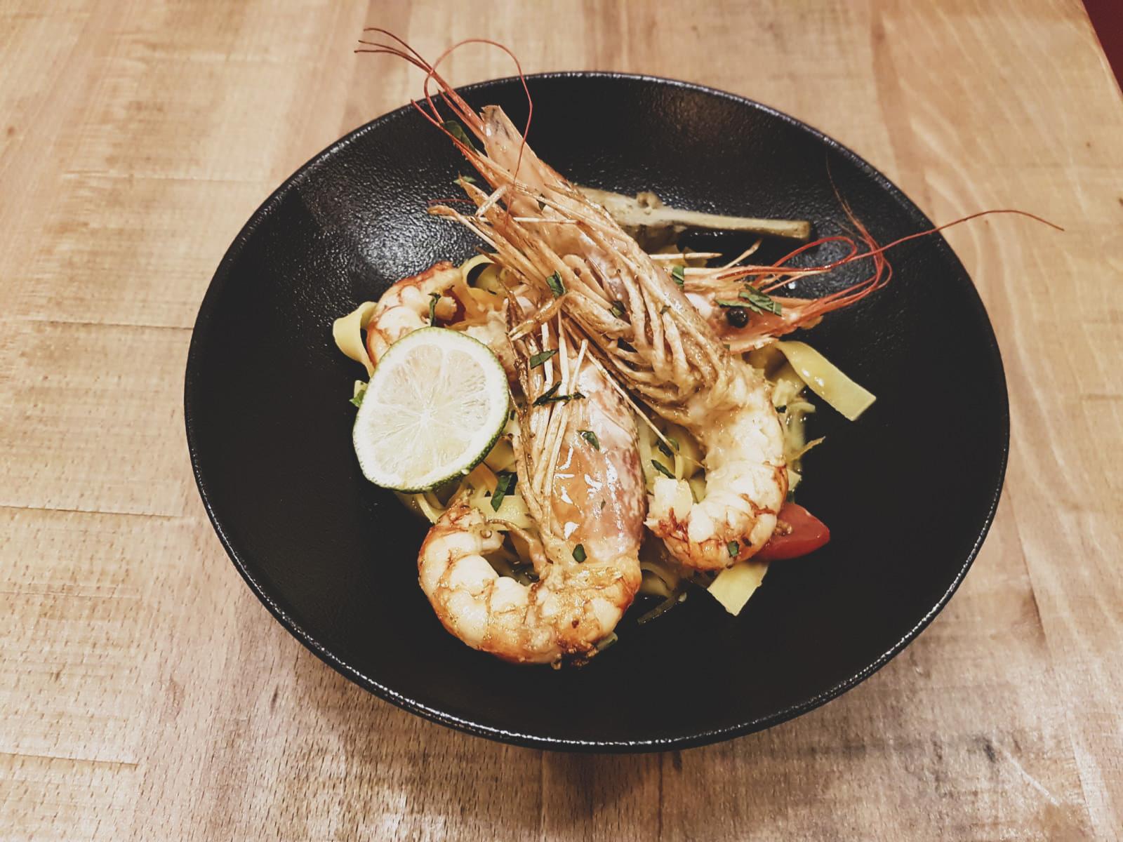 Restaurant italien La Nonna Hendaye : Tagilatelle Gamberetti