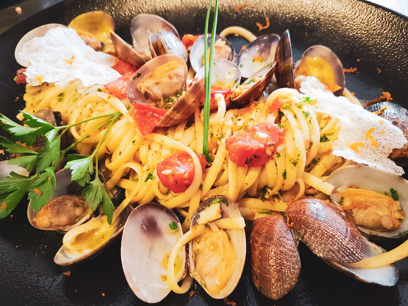 Restaurant Hendaye - La Nonna - Pâtes fraiches liguine Bongole
