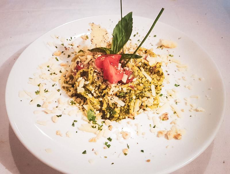 Restaurant Hendaye - La Nonna - Pâtes fraiches liguine pesto