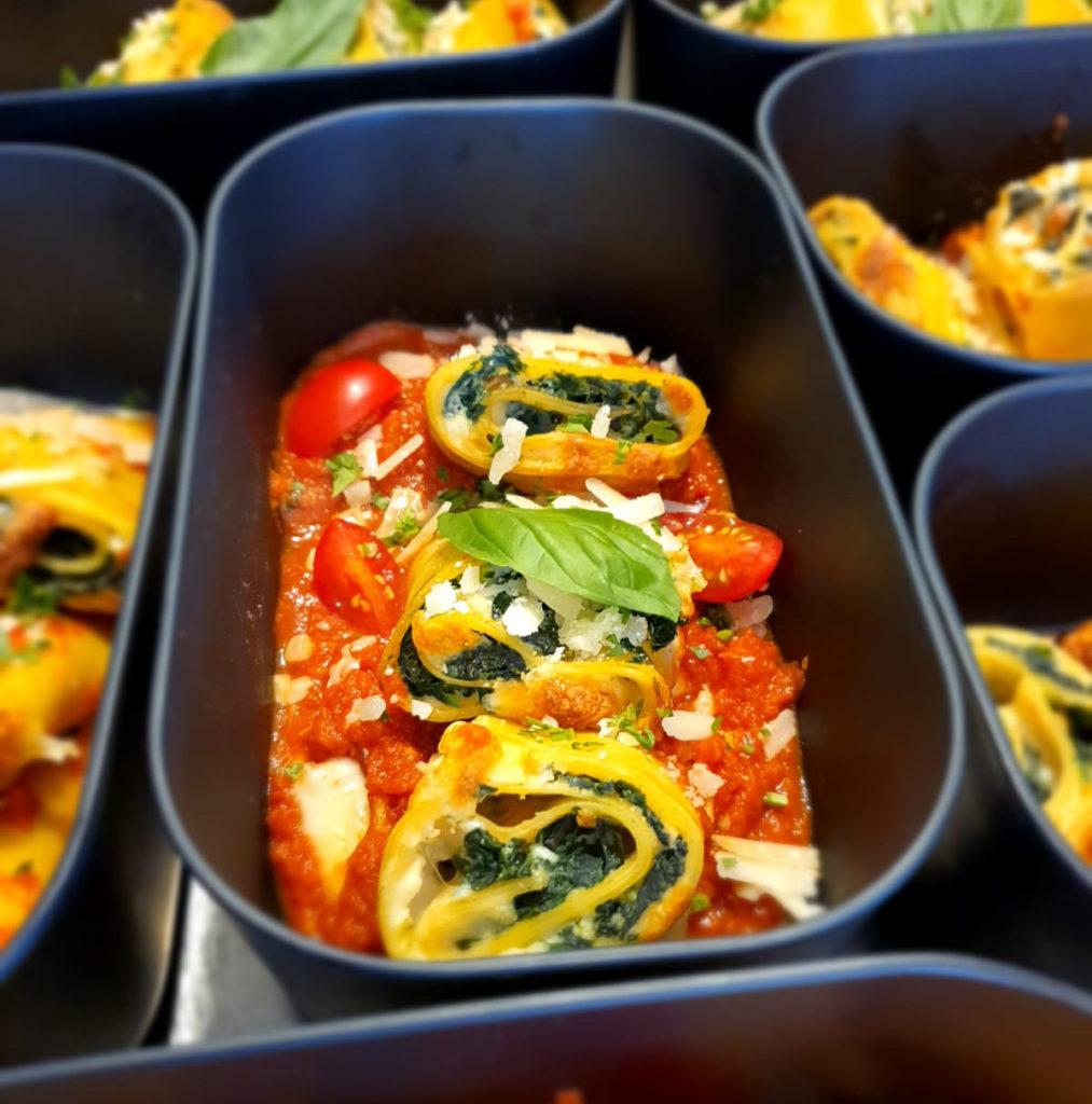 Les lasagnes ricotta épinards della Nonna à emporter consigne chez la Nonna, le restaurant italien d'Hendaye